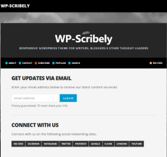 WP-Scribely Subscribe Page
