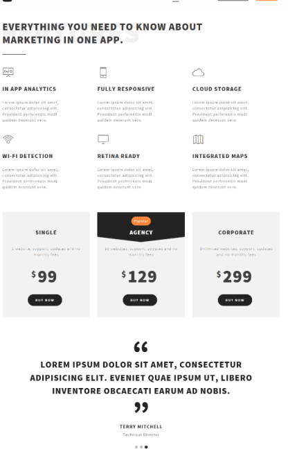 Zurapp - Pricing table
