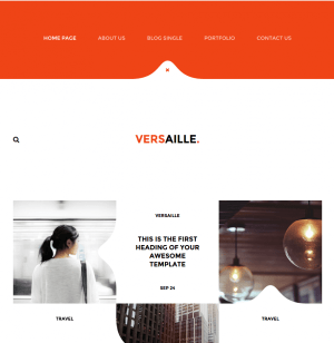 versaille WordPress theme