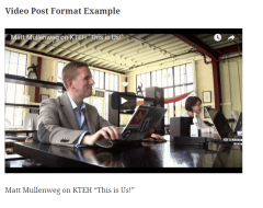 Twenty Fifteen Video Post Format