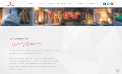 About Us Page of Luxury Resort