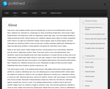 About Us Page of Polished