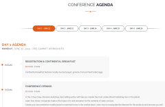 Agenda Page of Meetup