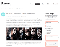 Birth of Cinema Page of Dzonia