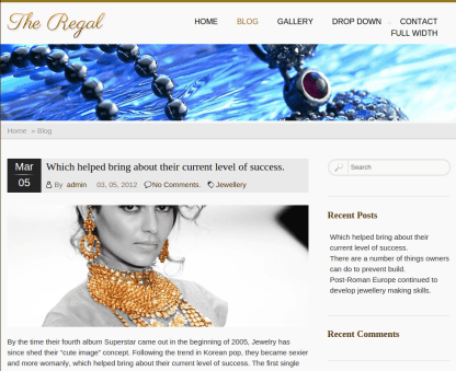 Blog Page of Regal