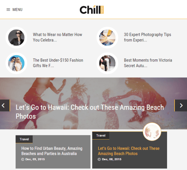 ChillNews – News and Magazine WordPress theme