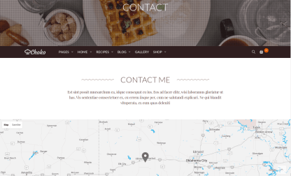 Contact Page of ChokoFood