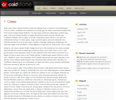 Contact Page of ColdStone
