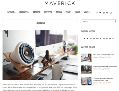 Contact Page of Maverick