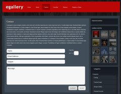 Contact Page of eGallery
