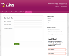 Contact Us Page of Slice