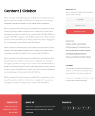 Content-Sidebar Page of Digital Pro