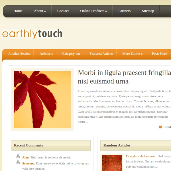 EarthlyTouch WordPress Theme