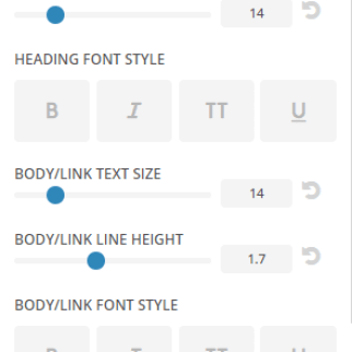 Extra - Customize Footer settings - Typography