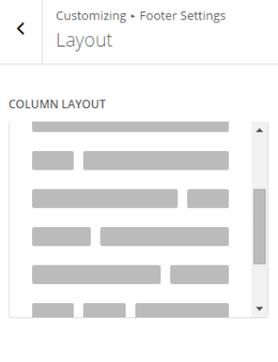 Extra - Customize Footer settings - column layout