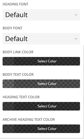 Extra - Customize General Settings - Typography settings 2