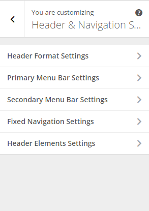 Extra - Customize Header and Navigation settings