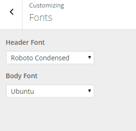 Foxy - Live Customizer - Fonts