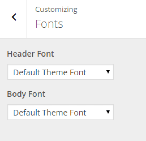 Fusion - Live Customizer - Fonts