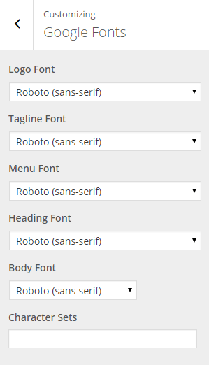 Google Fonts options - Exodus