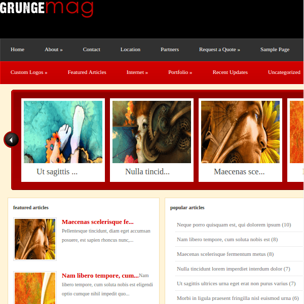 Grungemag WordPress Theme
