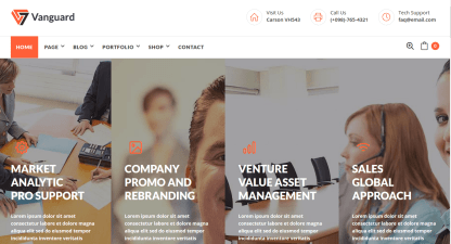 Home Page of Vanguard