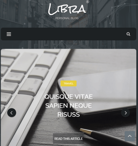 Libra – Personal Blog WordPress theme