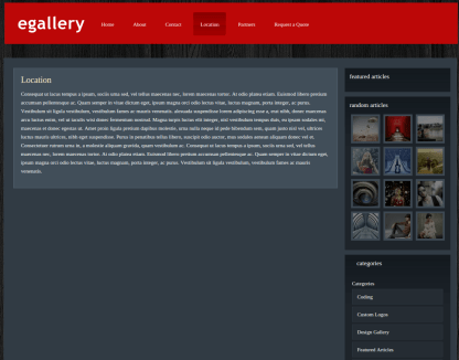 Location Page of eGallery