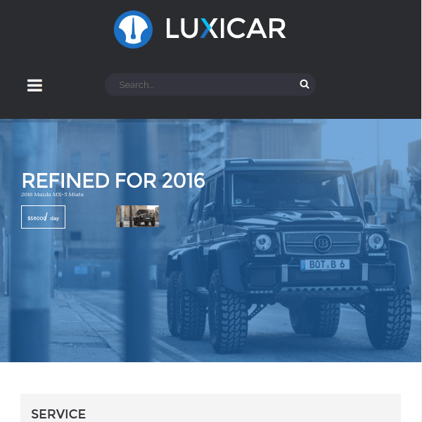 Luxicar Automotive & Business WordPress theme