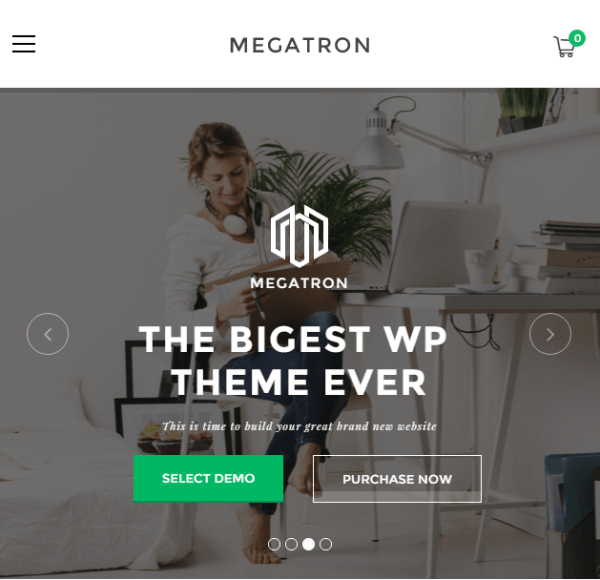 Megatron – Responsive Business WP theme