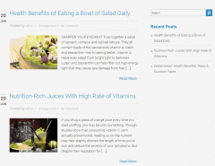 Nutrition – Blog page layout