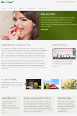 Nutrition – Home page layout