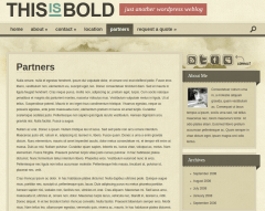 Partner Page of Bold