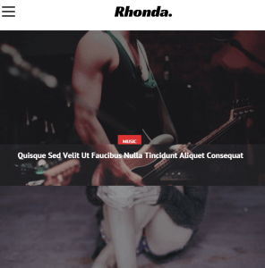 Rhonda - News WP Theme