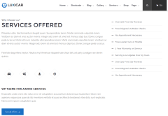 Services Page of Luxicar