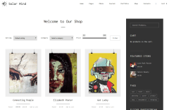 Shop Page of SolarWind