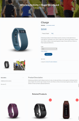 Single product page of Stratus