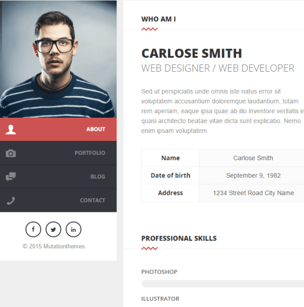 Split – Personal CV and Resume making WP theme
