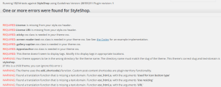 StyleShop - Theme Check result