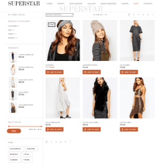 Superstar – shop page.
