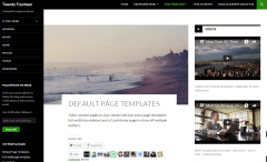 Twenty Fourteen – Default page template