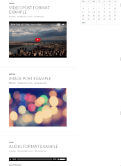 Twenty Fourteen – Different post format layouts