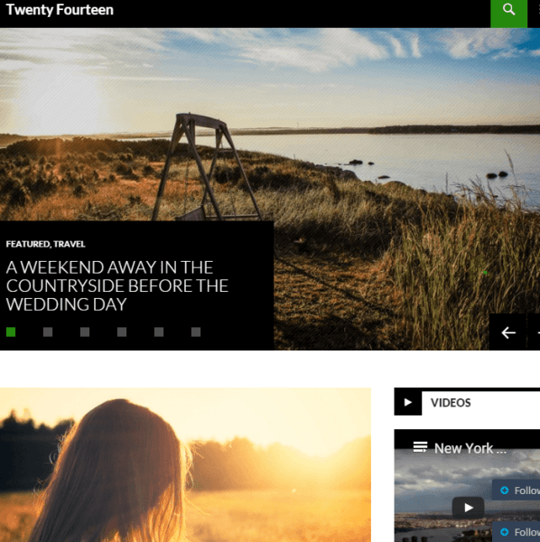 Twenty Fourteen – Responsive Magazine WordPress theme