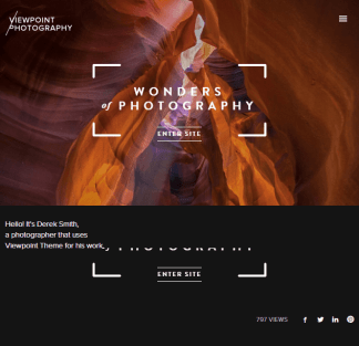 Viewpoint - photography WordPress theme