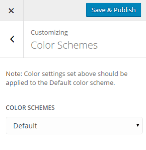 Theme Customizer - Color Schemes