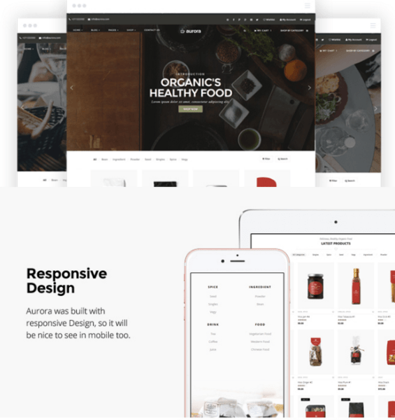 Aurora – 9 layout WooCommerce WP Theme