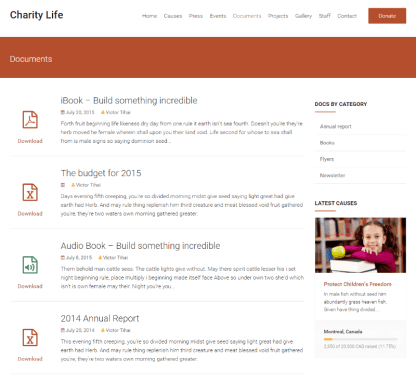 Charity Life - Documents