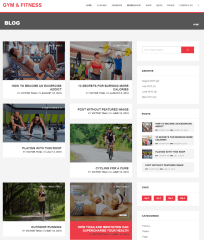 Gym & Fitness – Blog page