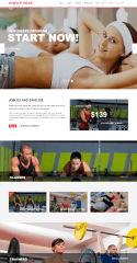 Gym & Fitness – Homepage