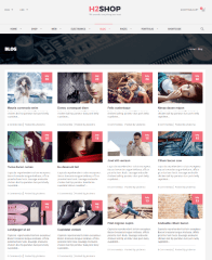 H2shop – 4-column grid blog layouts
